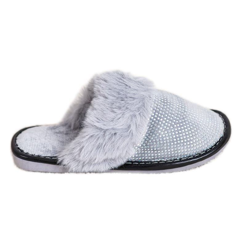 Bona Zapatillas cómodas con piel gris