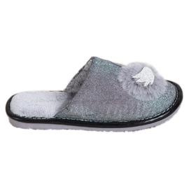 Bona Zapatillas elegantes con aplicación gris
