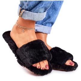 FRJ Zapatillas Mujer Piel Negra Cold Days negro