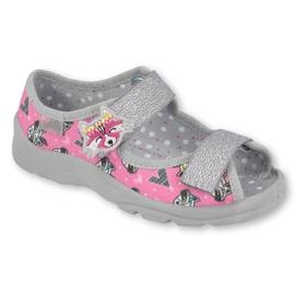 Calzado infantil befado 969X162 rosa plata