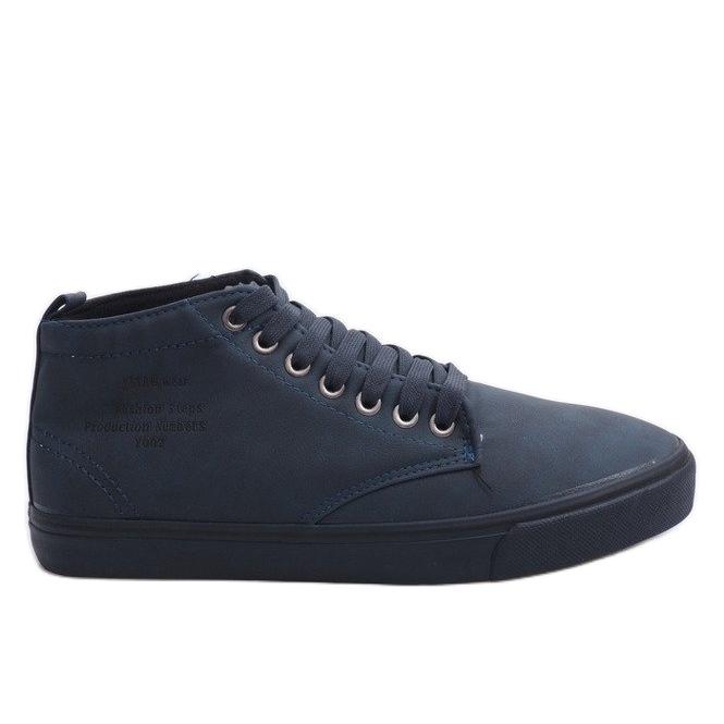 Zapatillas altas con estilo Y007 Azul marino marina