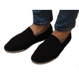 Zapatos deportivos negros sin cordones Lycra D16M