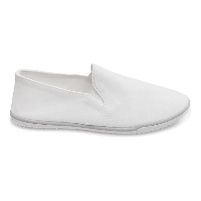 Lycra BL181-2 Zapatillas blancas sin cordones blanco