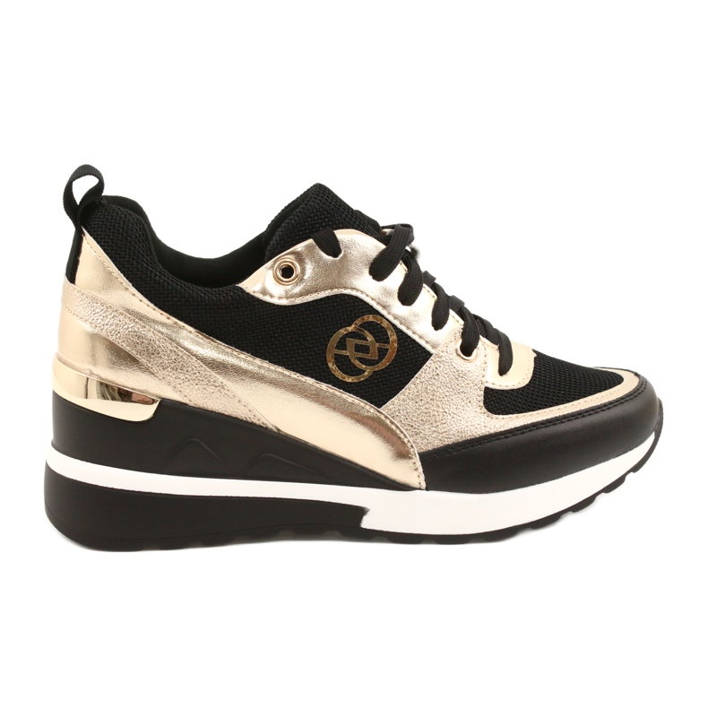 Evento Zapatos deportivos con cuña para mujer 21PB35-4001 Black Gold Roxette negro dorado