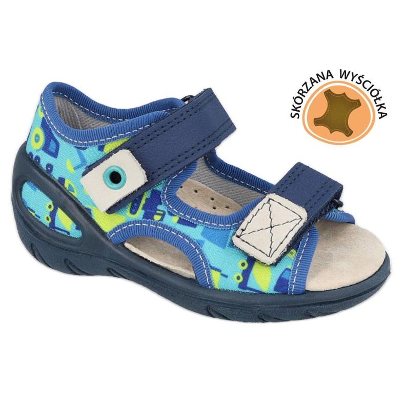 Calzado infantil befado pu 065X156 azul marino azul verde