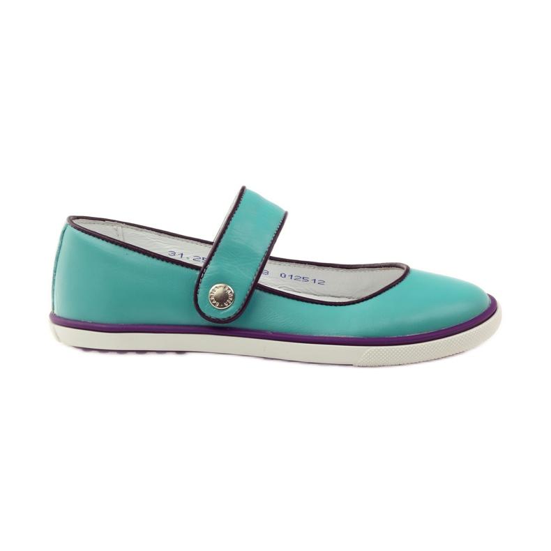 Zapatillas bailarinas para niños bartek 28368 turquesa.