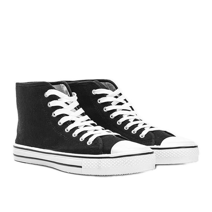 Zapatillas de hombre negras Gin tobillo negro