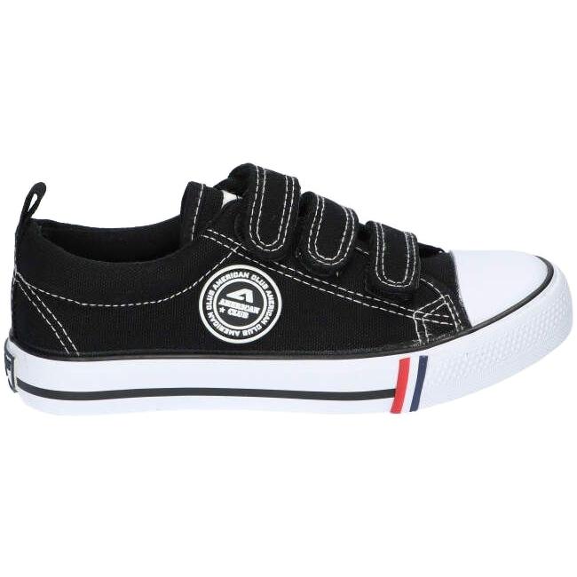 American Club Zapatillas negras American LH33 / 21 con velcro negro