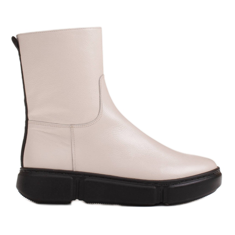 Marco Shoes Botines deportivos blancos hechos de suave piel natural