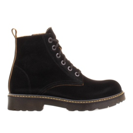 Marco Shoes Botines altos, botas atadas a suela translúcida negro