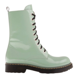 Marco Shoes Botines altos, botas atadas a suela translúcida verde