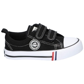American Club Zapatillas negras American LH35 / 21 con velcro negro