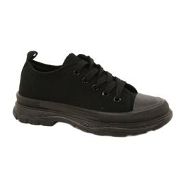 FR1 Zapatillas deportivas negras para niños Travel Time negro