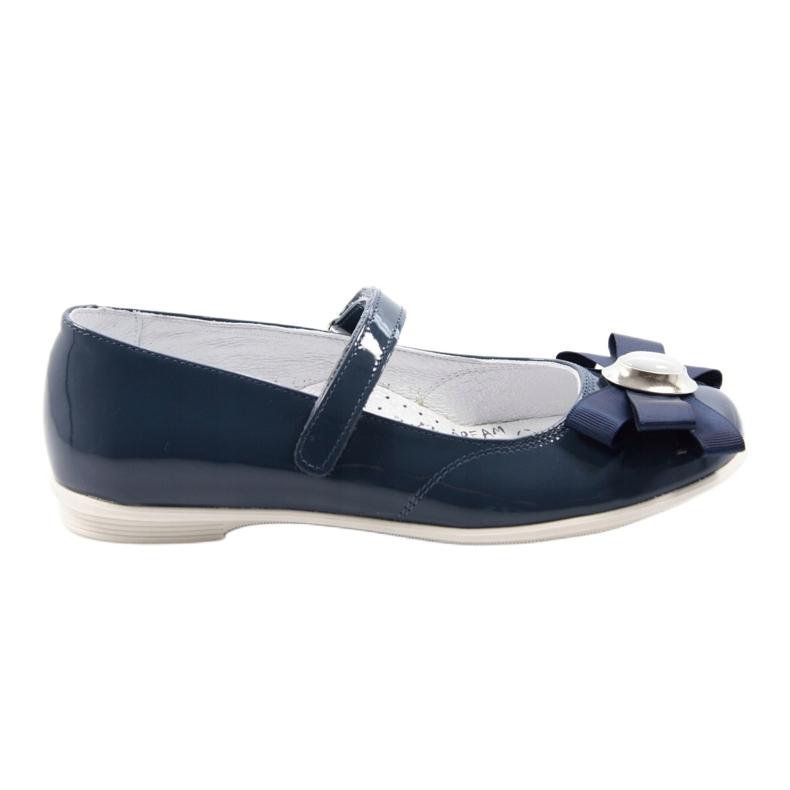Zapatillas bailarinas para niños Bartek 45418 azul marino. multicolor blanco