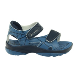 Sandalias azules de velcro infantil para niños Rider.