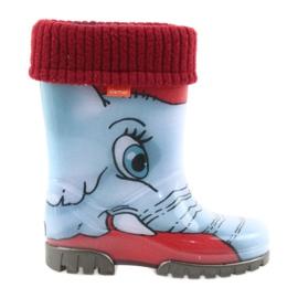 Botas para niños Demar wellies con un calcetín.