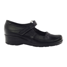 Zapatillas de plataforma cómodas Angello 371 negro
