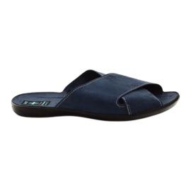 Marina Zapatillas de hombre Adanex 20308 azul marino.