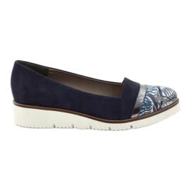 Edeo Zapatos LORDSY cómodos azul marino.