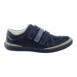 Zapatos de niños, velcro Bartuś, azul marino.