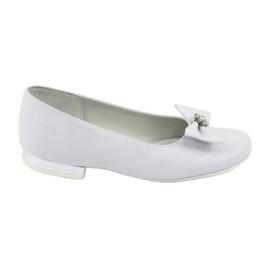 Zapato de salón comunión bailarinas blanco Miko 800