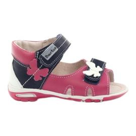 Sandalias para niña - mariposa Bartuś rosa