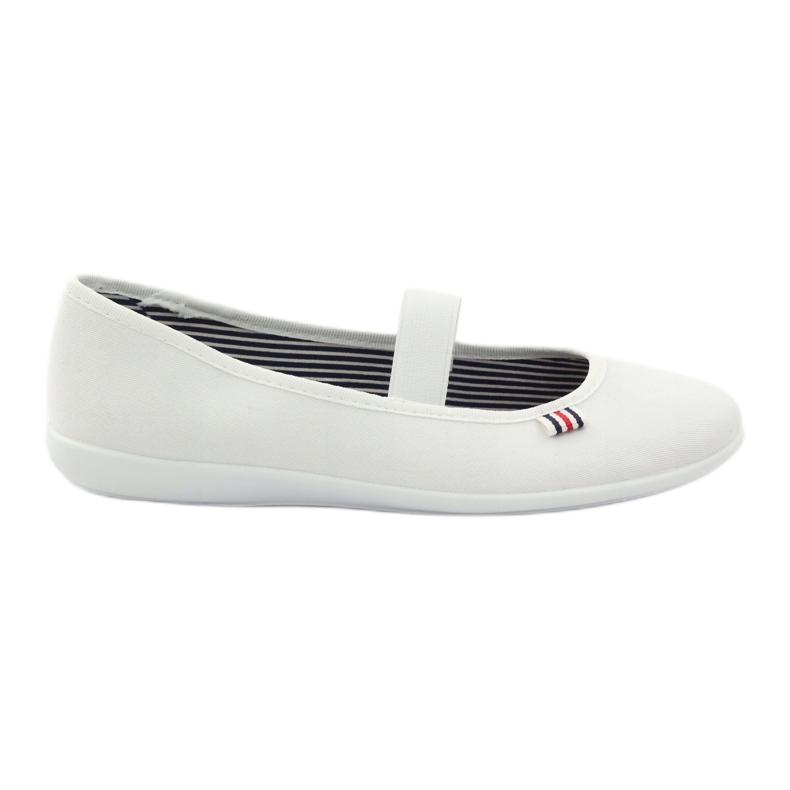 Zapatillas de mujer blancas Befado 493Q003 blanco rojo multicolor
