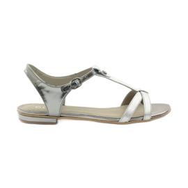 Sandalias de mujer EDEO wz.3087 plata gris