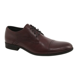 Zapatos con cordones granate Pilpol 1674