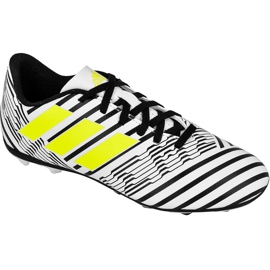Botas de fútbol adidas Nemeziz 17.4 FxG Jr S82459 blanco blanco negro