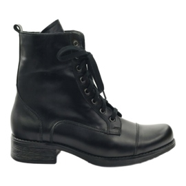 Botas con cremallera Angello 2060 negras. negro
