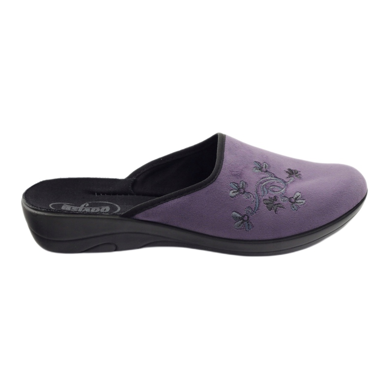 Zapatillas de mujer befado zapatillas 552D006 púrpura multicolor