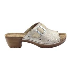 Zapatillas clip INBLU BL061 plata beige