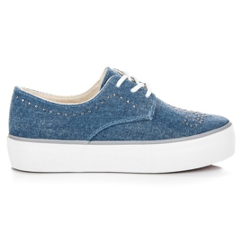 Kylie Zapatillas Con Cristales azul