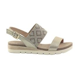 Zapatos sandalias caprice de mujer 28604 amarillo