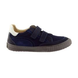 Marina Zapatos de niños, velcro Bartuś, azul marino.