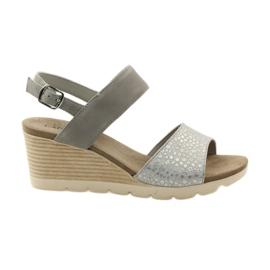 Zapatos sandalias caprice de mujer 28701 gris