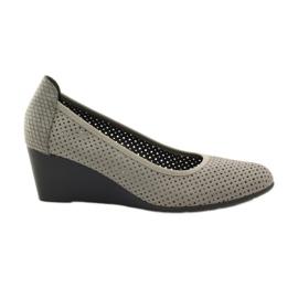 Zapatillas de mujer koturno Daszyński 113 gris
