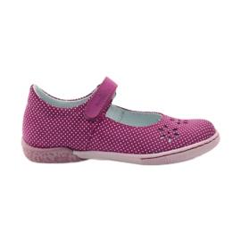 Zapatillas bailarinas de chicas de Ren But 3285 rosa blanco