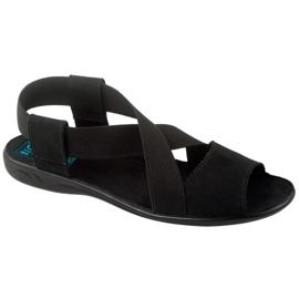 Cómodas sandalias de mujer negras Adanex 17498 negro