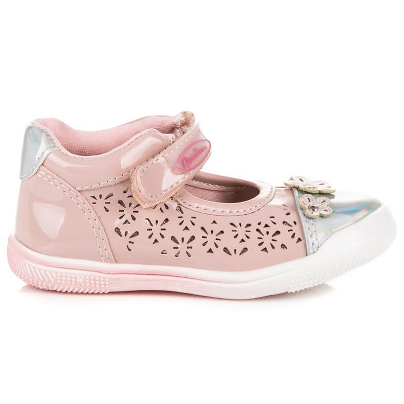 American Club Zapatos americanos calados rosa