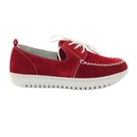 Rojo Zapatos de cuero Creepersy Filippo 020