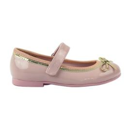 American Club Zapatillas bailarinas con lazo americano. rosa