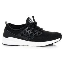 Ax Boxing negro Zapatos de tela sin cordones