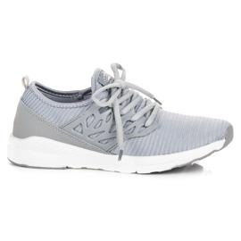 Ax Boxing Zapatos de tela sin cordones gris
