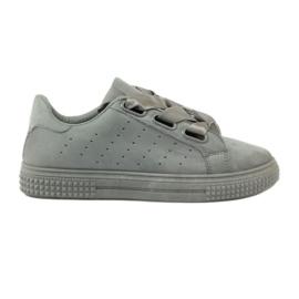 McKey Zapatos de enredadera atados con una cinta gris.