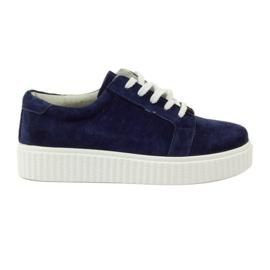 Zapatos de piel Creepersy Filippo 036 marina