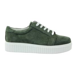 Verde Zapatos de piel Creepersy Filippo 036