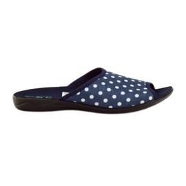 Zapatillas de lunares azules de algodón Adanex