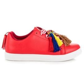 Rojo Zapatillas de moda rojas VICES